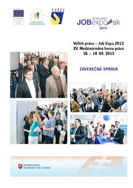 Veľtrh práce – Job Expo 2013 XV. Medzinárodná burza práce 18