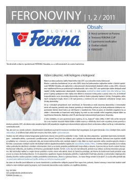FERONOVINY | 1, 2 / 2011