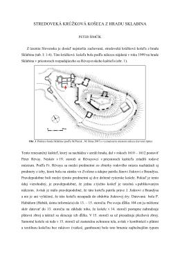 stredoveká krúžková košeľa z hradu sklabina
