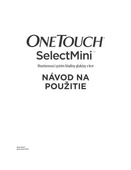 návod na použitie - LifeScan OneTouch