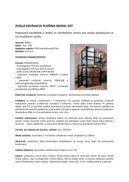 Technická charakteristika - popis (PDF)