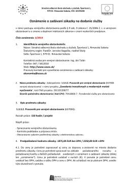 Oznámenie 3_2014 - Stredná odborná škola obchodu a služieb