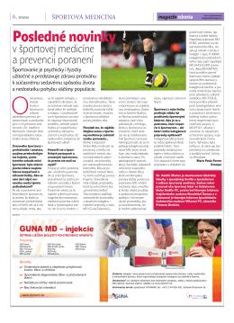 Posledné novinky v športovej medicíne a prevencii