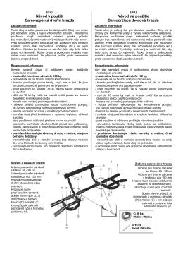 Návod k použití Samovzpěrná dveřní hrazda Návod na použitie