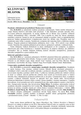 Hlásnik 12/2014