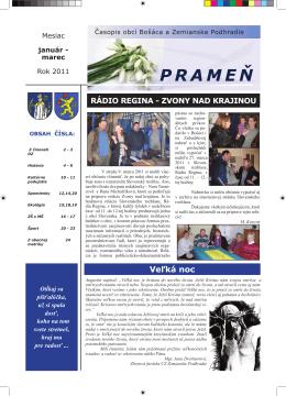 Časopis Prameň január - marec 2011 / 18.72 Mb