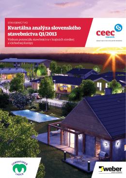 Kvartálna analýza slovenského stavebníctva 1-2013