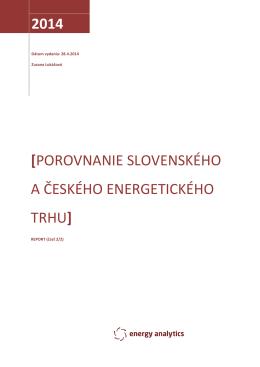 Porovnanie slovenského a českého energetického trhu