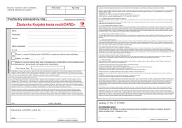 Žiadanka Krajská karta multiCARD®