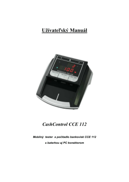 manual cash-cce112.pdf - AXIS distribution Veľkoobchod