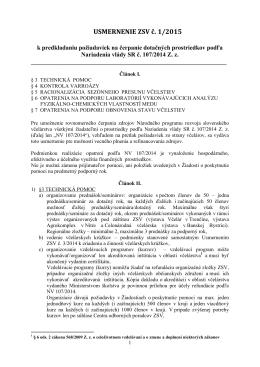 Usmernenie-ZSV-1-2015-K-predkladaniu-požiadaviek-na