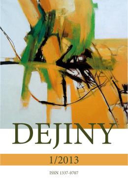 pdf - 15 MB - Dejiny - Internetový časopis