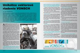Unikátne vektorové riadenie VONSCH