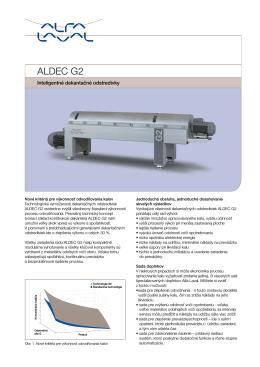 Katalógový list - Dekantačné odstredivky ALDEC G2