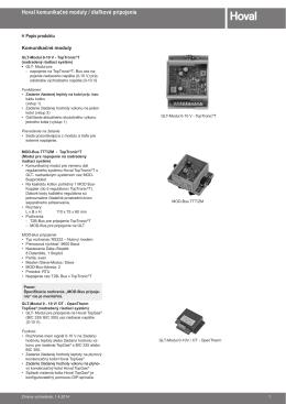 Komunikačné moduly - technický katalog