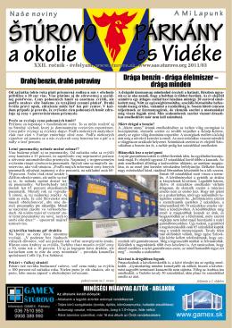 2011/3 - Mesto Štúrovo