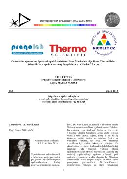 Bulletin č. 160 - Spektroskopická společnost Jana Marka Marci