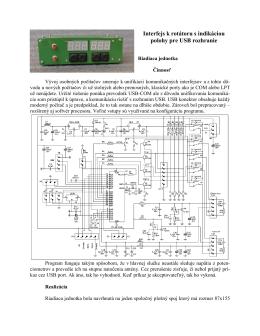 Interfejs k rotátoru cez USB port
