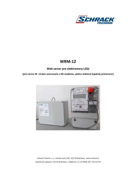 Návod pre WRM - 12