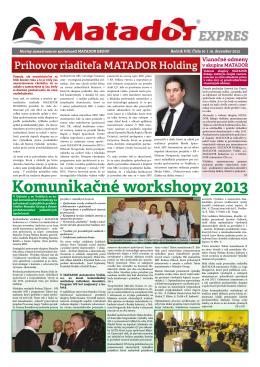 Komunikačné workshopy 2013