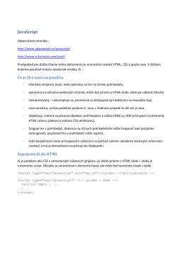 Použitie ARIA property vo WebUI