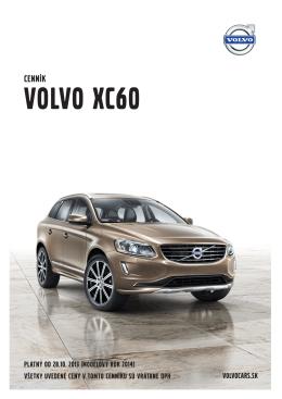 Cenník VOLVO XC60