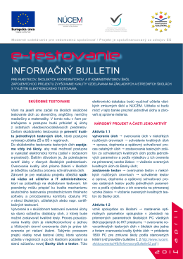 Informačný Bulletin č. 3 - školy