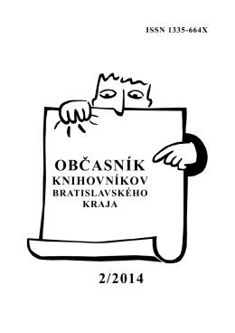 Občasník knihovníkov Bratislavského kraja 2/2014