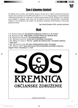 Kremnický letopis 1-2/2009