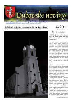 4/2011 - Dubová