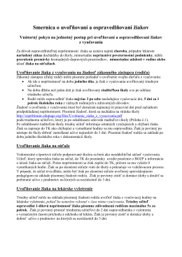 Smernica o uvoľňovaní a ospravedlňovaní žiakov