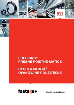 Katalogu PRECISKO® PRESNÉ POISTNÉ MATICE - kvt