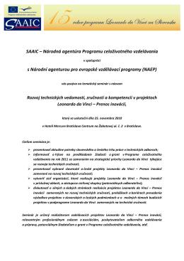 SAAIC – Národná agentúra Programu celoživotného