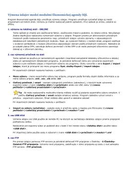 Výmena údajov medzi modulmi Ekonomickej agendy SQL - MK-soft
