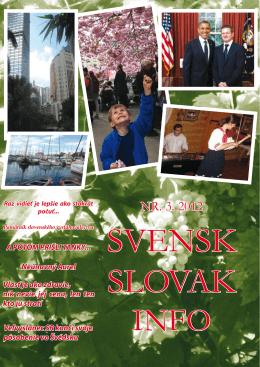 NR. 3. 2012 - Švédsko Slovenský spolok