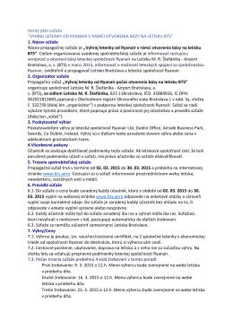 Na stiahnutie - pdf - Letisko Bratislava (BTS)