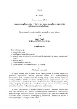 Nový stavebný zákon - Ministerstvo dopravy, výstavby a