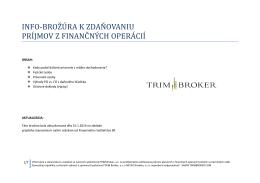 zdaňovanie príjmov z finančných operácií