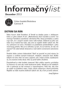 Informačnýlist December 2013