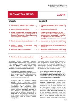 Slovak Tax News 2_2014