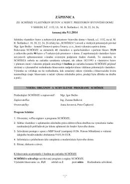 6. Zápisnica zo schôdze vlastníkov bytových a - hokejka