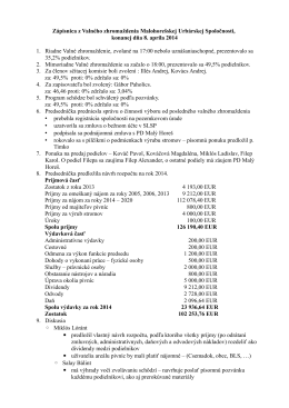Zápisnica z VZ 20140408