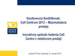 Call Centrum 2013