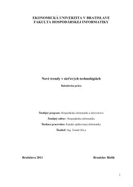 PDF - Prvý slovenský portál pre diplomové práce