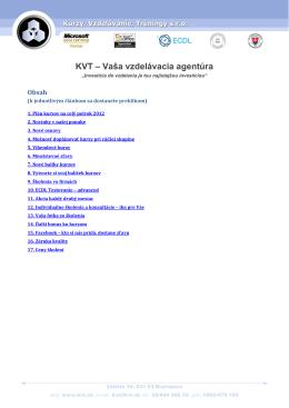 KVT – Vaša vzdelávacia agentúra
