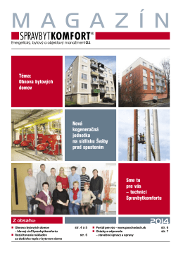 obnova bytových domov - Spravbytkomfort as Prešov
