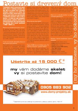 Postavte si drevený dom