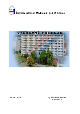 Domov mládeže, Medická 2, 040 11 Košice