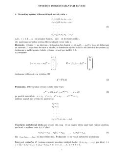 SYSTÉMY DIFERENCIÁLNYCH ROVNÍC 1. Normálny systém