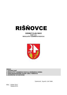PDF RIŠŇOVCE ÚZEMNÝ PLÁN OBCE Časť 2.18. Regulatívy